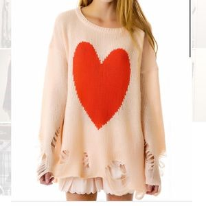 Pink heart shirt/ sweater